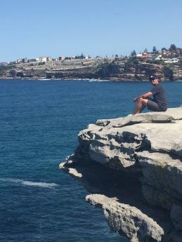 Cliff exploring in Sydney